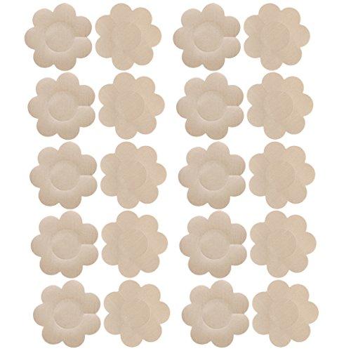 10-Paare-Nipple-Covers-Nippelabdeckungen-Nackt-Farbe-Satin-Brust-Pasties
