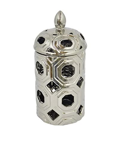 Three Hands Openwork Jar, Silver
