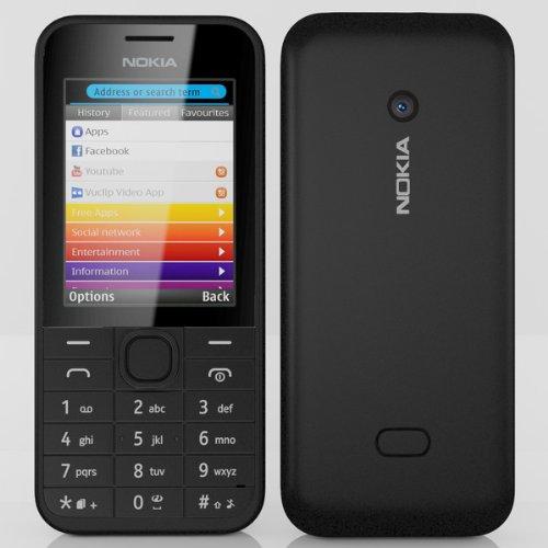 Nokia Asha 208 Dual sim Black simfree/unlocked mobile phone Black Friday & Cyber Monday 2014