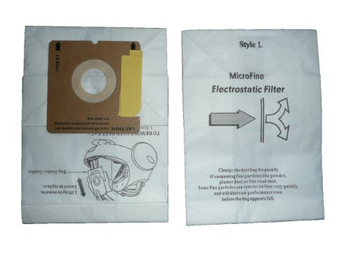 150 Eureka Style L Allergy Micron Filtration Vacuum Bags, Mini Mite Canister Vacuum Cleaners, 61715-12, 61715, 61715A, 960, 961, 962, 963, 964, 965, 960A, 961A, 962A, 963A, 964A, 965A, Eureka 1000 Series except Model 1099 (Eureka Model 150 compare prices)