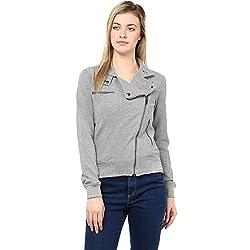 Hypernation Light Grey Color Jacket for Women