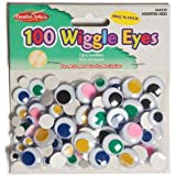 Creative Arts by Charles Leonard Wiggle Eyes, Peel'n Stick, Assorted Colors and Sizes, 100/Bag (64535)