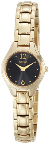 Seiko Women's SUJG08 Gold-Tone Charcoal Dial Dress Watch