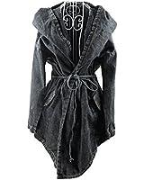 EJY coupe-vent femmes , Veste en jean à capuche pour femme
