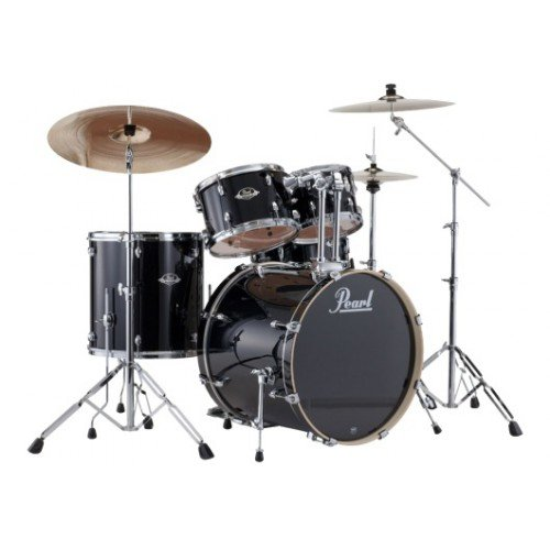 PEARL-EXPORT-STANDARD-BATTERY-22-Jet-Black-with-Cymbals