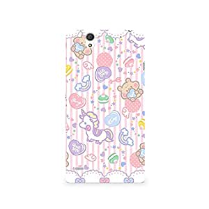 TAZindia Printed Hard Back Case Cover For Sony Xperia C4