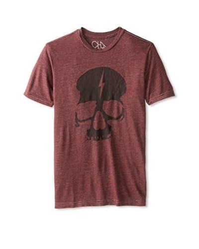 Chaser Men's Skull Lightning Bolt Short Sleeve Crew Neck T-Shirt