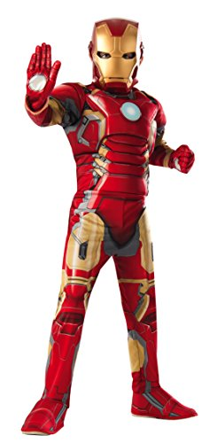 Child Avengers 2 Iron Man Muscle Chest Costume with Gloves (Medium) (Iron Man Kids Costume compare prices)