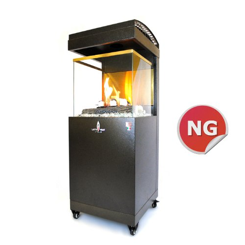 Lava Heat Italia Pandora Y5 Outdoor Heater - 41,000 BTU, Natural Gas, Heritage Bronze Finish, Model# HB-857999004058