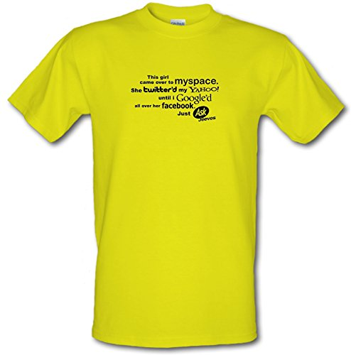 chargrilled-this-girl-came-over-to-myspace-mens-t-shirt-yellow-xxl