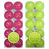 20 x CITRONELLA & LEMON BALM – Shearer Candles – Scented TEALIGHTS For Garden 4.5 Hours (2 x 10 Packs) GREEN and PINK