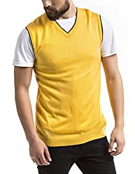 Prym Men's Acrylic Sweater (8907423022843_2011521506_Small_Yellow)
