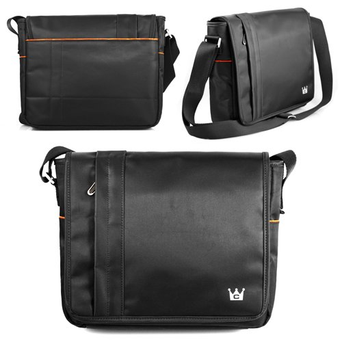 CaseCrown Horizontal Mobile Messenger Bag (Black) for iPad 4 / iPad 3