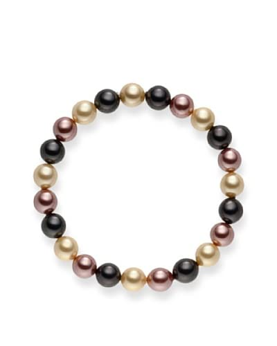Pearls of London Pulsera  Gris Oscuro / Marfil / Marrón Claro