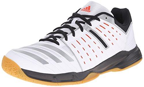 adidas Performance Men's Essence 12 Volleyball Shoe, White/Bold Orange/Black, 11.5 M US