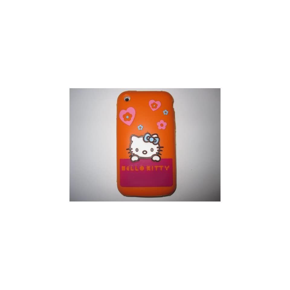 I Phone 3G 3GS light weight Shirt Pocket Hello Kitty Silicone Case / Skin Orange