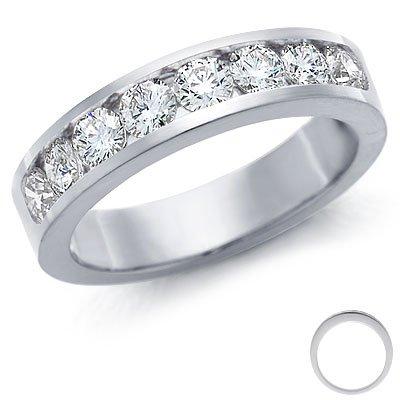 CLEARANCE-3MM H - I/I1 0.40Ct 8 Diamond Half Eternity Ring, 500 Palladium , L