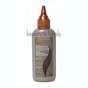 Clairol Professional Beautiful Collection Advanced Gray Solution Hair Color, Rich Dark Brown