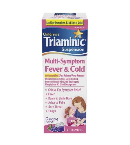 Triaminic Fever Mutli Symptôme et Cold Liquid,