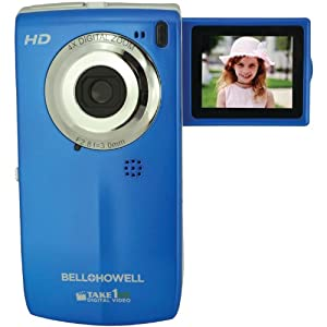 Bell+Howell T100HD-BL Take1 HD Digital Video Camcorder with Fold Out LCD Screen Video Camera with 1.8-Inch LCD (Blue)