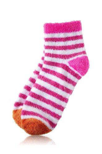 Cheap Bath and Body Works Shea Infused Lounge Socks Pink Stripe, Slipper Socks (B008MRRC9U)