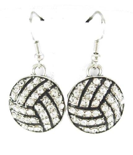 earrings c56 clear silver tone fish