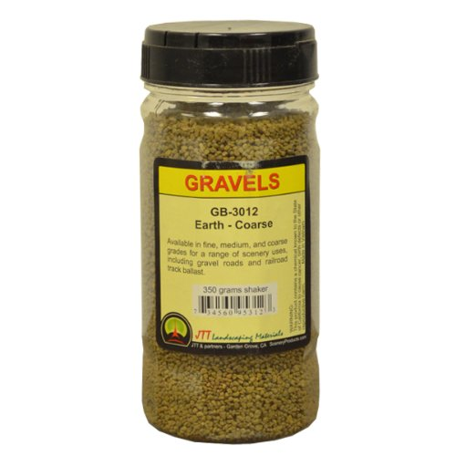 JTT Scenery Products Ballast and Gravel, Earth, Coarse