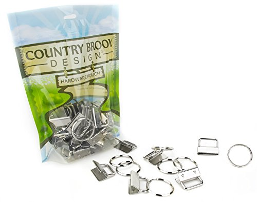 50-country-brook-design-1-inch-key-chain-fob-wristlet-hardware-set-with-key-ring