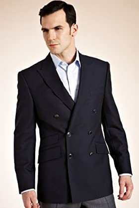 Big & Tall Pure Wool Double Breasted Blazer
