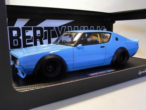 ignition model 1/18 LB WORKS Kenmeri 2Dr Blue