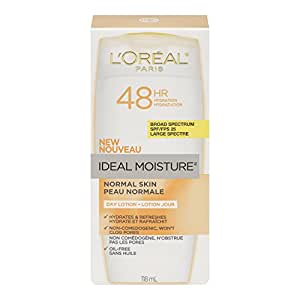 L'Oreal Paris L'Oreal Paris Ideal Moisture Day Lotion SPF 25, Normal Skin, 4.0 Fluid Ounce