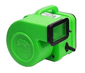 B-AIR FLEX 1/4 GREEN, Flex Mini Air Mover, 1/4 hp, Green