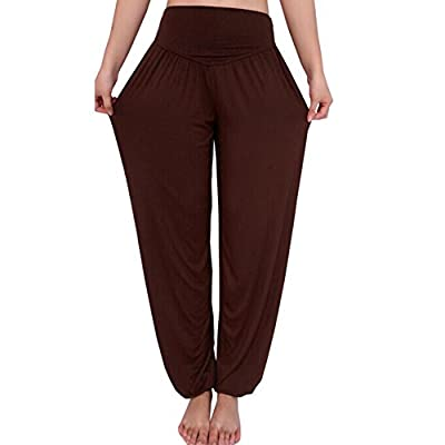 Hellomamma Women Soft Pilates Yoga Harem Pants Plus Size Casual Long Trousers