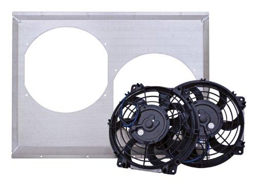 Flex-A-Lite 53728D S-Blade Electric Cooling Fan W/Aluminum Shroud