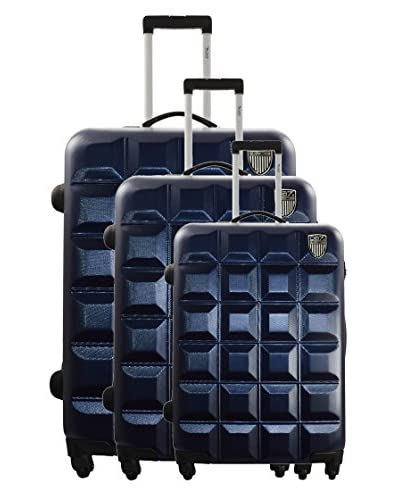 Geographical Norway Set 3 Trolley 4 Ruote Scratch [Blu]