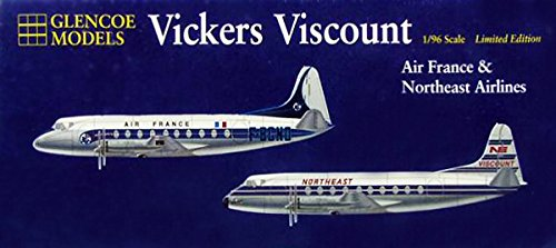 glencoe-models-19-scale-6-vickers-viscount-with-decals-for-air-france-and-northeast