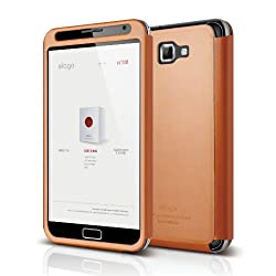 elago G4 Handmade Genuine Leather for at&t, International Galaxy Note - Bar type