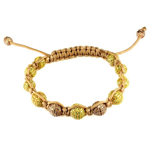 Kipitok Canary Chocolate Diamond Macrame Bracelet