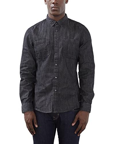 edc by ESPRIT Camisa Hombre Negro