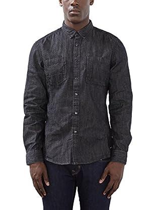edc by ESPRIT Camisa Hombre (Negro)