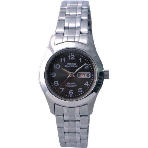 [リコー]RICOH 腕時計 ATRANTA(アトランタ) ソーラー充電 アナログ表示 スタンダード 10気圧防水 ブラック 698004-12 レディース