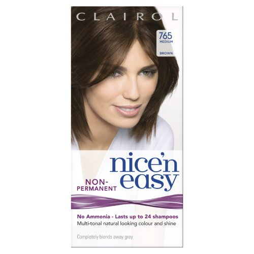 Nice 'N Easy By Lasting Colour Non Permanent Hair Colourant 765 Medium Brown (Pack of 3)