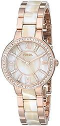 Fossil Virginia Three-Hand Stainless Steel Watch