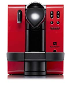 DeLonghi EN660.R Nespresso Lattissima Single-Serve Espresso Maker, Red