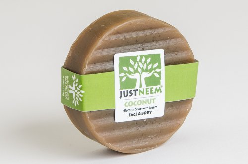 JustNeem All Natural Neem Soap bar - Coconut