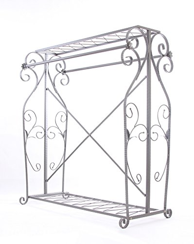 Decorative Grey Steel Iron Garment Coat Rack (Y009D) 1