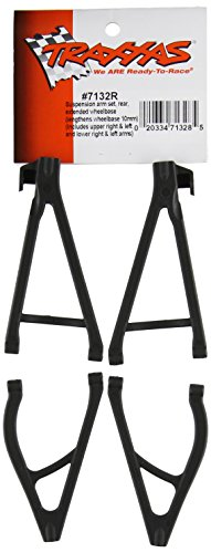 Traxxas 7132R Suspension Arm Set Rear, Extended Wheelbase, 1/16 E-Revo