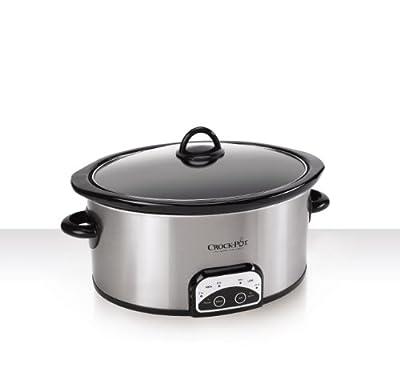 Crock-Pot SCCPVP600-S 6-Quart Smart-Pot Oval Slow Cooker, Stainless Steel by Crockpot