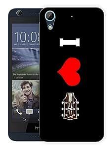 "Humor Gang I Love Guitar Music Printed Designer Mobile Back Cover For ""HTC DESIRE 728"" (3D, Matte, Premium Quality Snap On Case)"