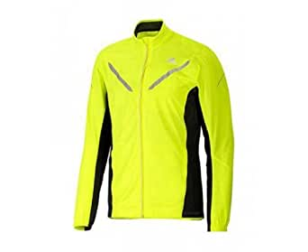 ADIDAS Men's adiVIZ Running Jacket, Fluo Yellow/Black, XS